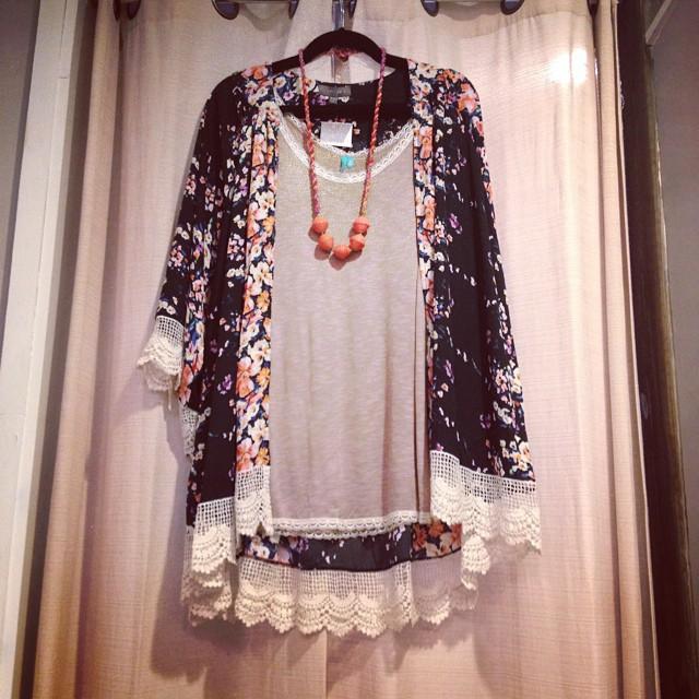 New plus size kimono! $40.00!