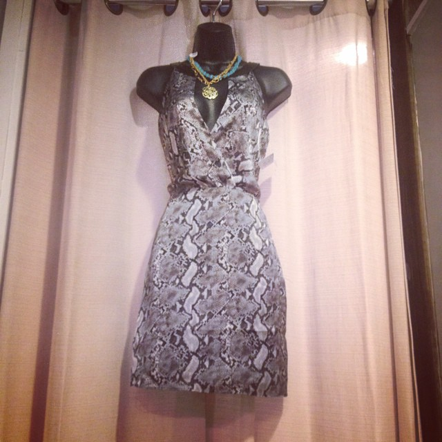 New grey snake print dress $68