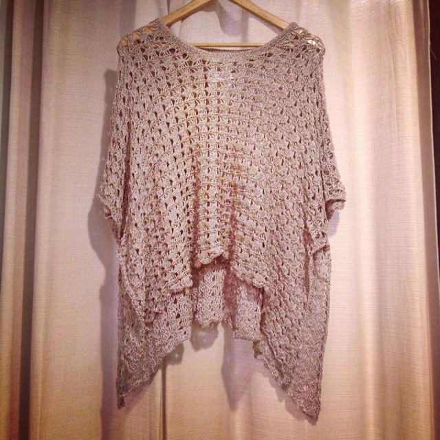 Mocha knit sweater $38!