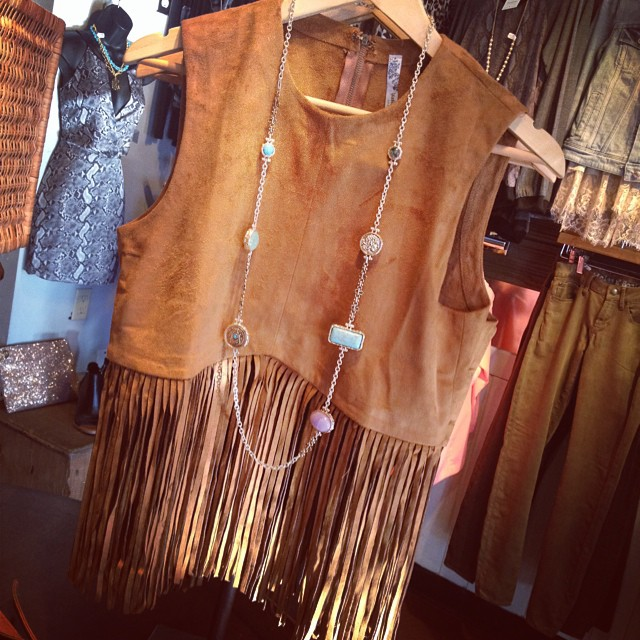 How precious is this new fringe top!?  $48.00!