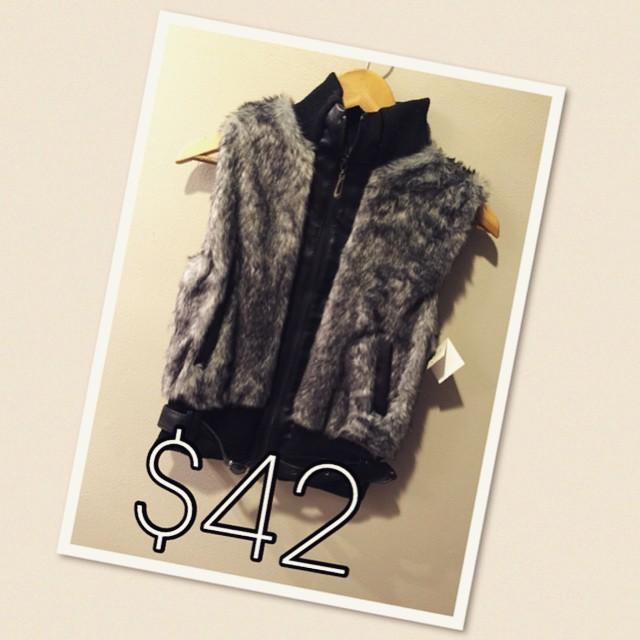 New Faux Fur Vest $42!