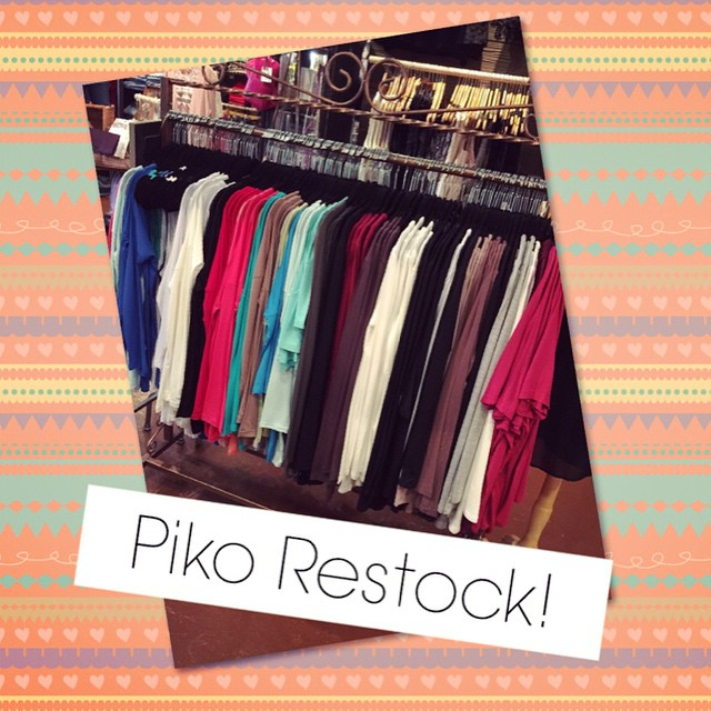 Piko's are now restocked! Hurry in and grab your favorites today!