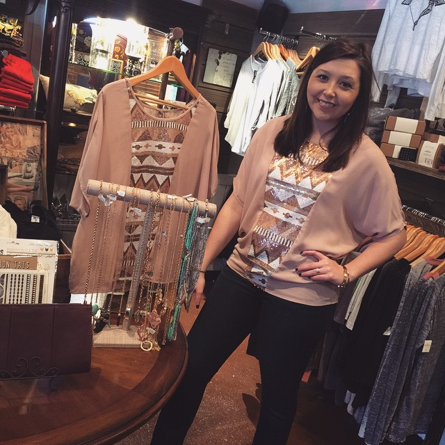 New blush sequins top, great for all the Mardi Gras events! $34! #rruscovidalia