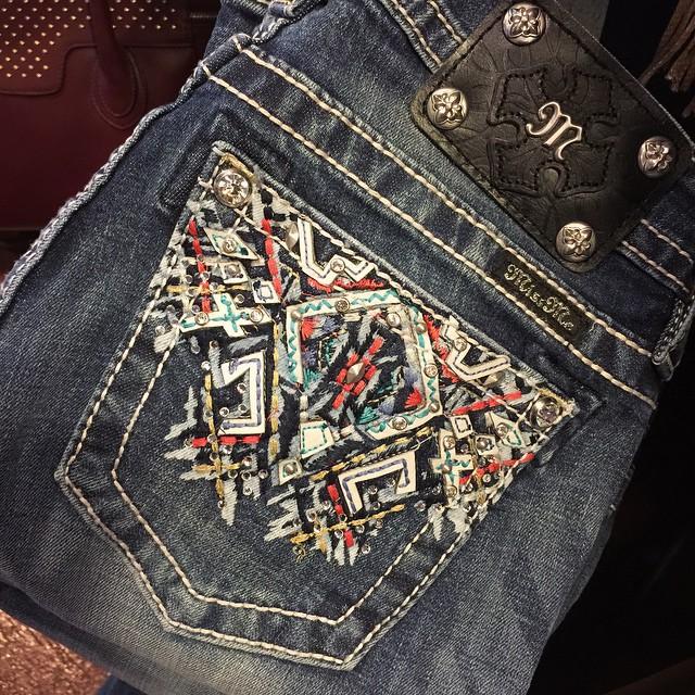 Back pocket of new miss me jeans!