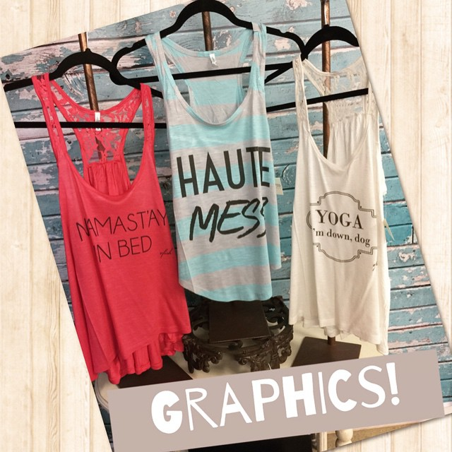 Loving these new graphic tanks! $28