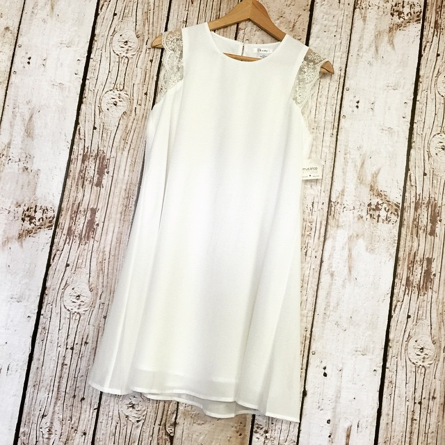 Lace cap white dress, perfect for graduation! $54