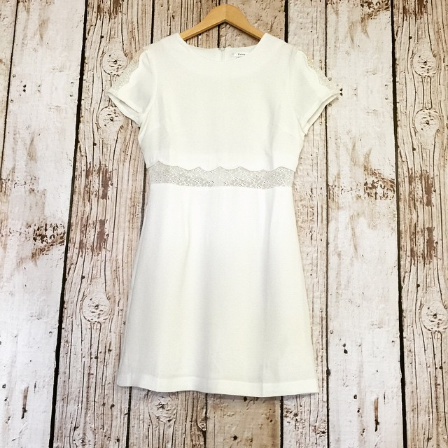This white contrast waist dress, makes for the perfect dress for all occasions calling for white! $62