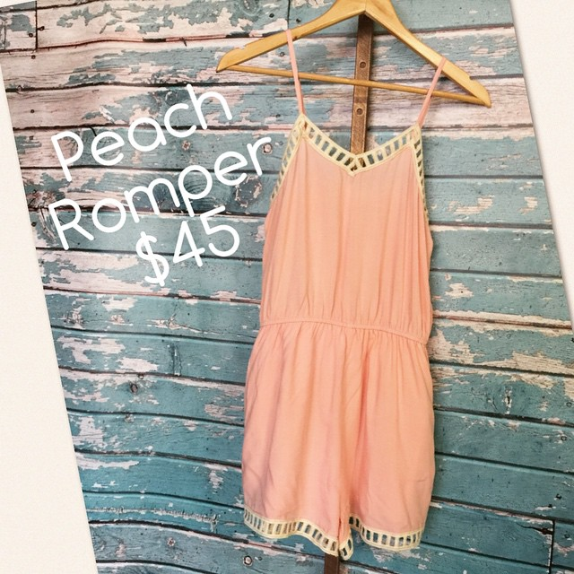 New Peach Romper $45!
