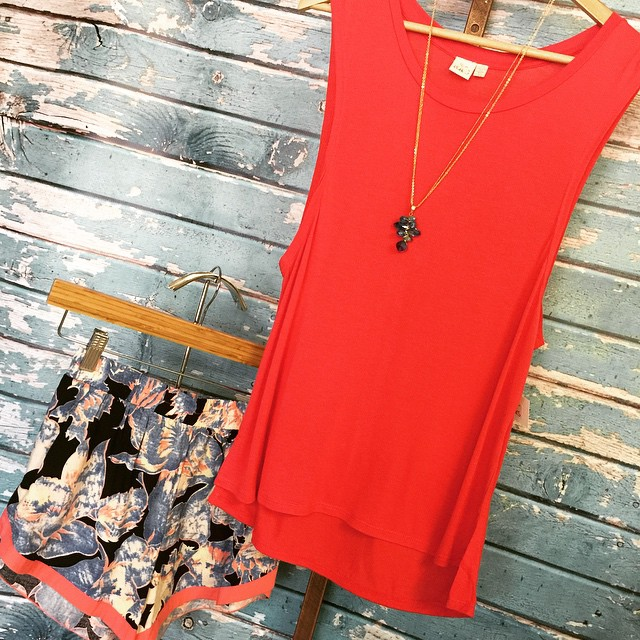 Loving this match up! Shorts $26 Top $28 Necklace $22