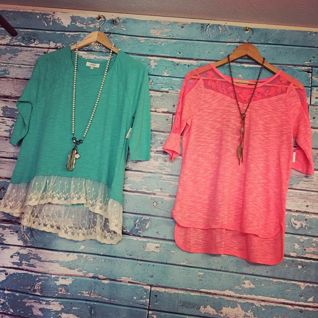 Bringing in this spring with brights! Left top $34, Right top $32!
