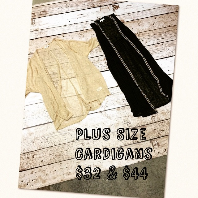New Plus Size Cardigans!