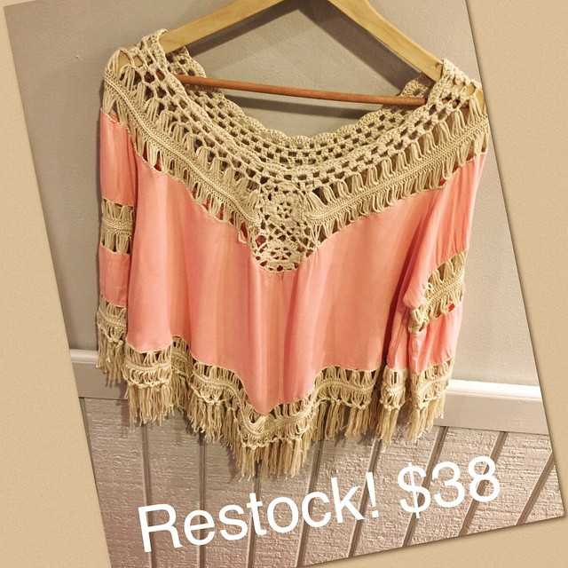 We are now restocked on this perfect fringe blouse!