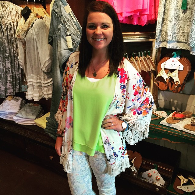 Restocked on everyone's favorite floral kimono! $38