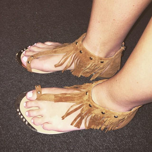 New Tan Fringe Sandals $24.00!